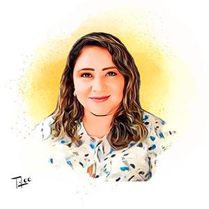 Blanca Peñafiel en dibujo