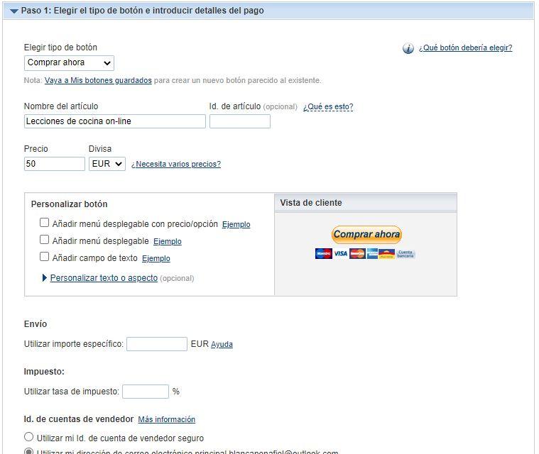 imagen de guía para indicar donde se agrega el precio del servicio y el nombre